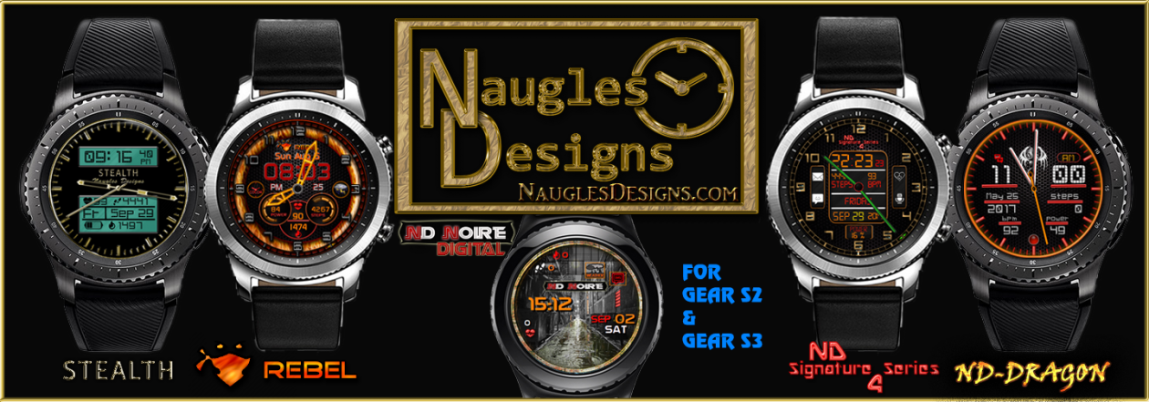 Watch Face Designs for the Gear Watch Collection