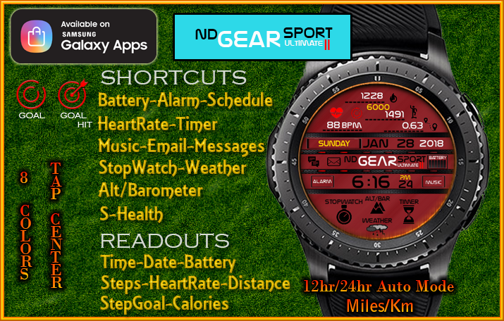 SPORT | Watch Face Designs for the Samsung Watch Collection