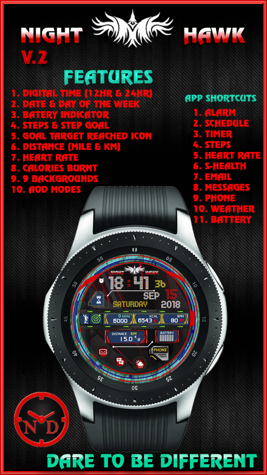 FUTURISTIC | Watch Face Designs for the Samsung Watch Collection