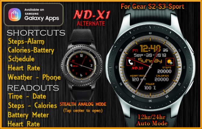 ND-X1 (Alternate) | Watch Face Designs for the Samsung Watch